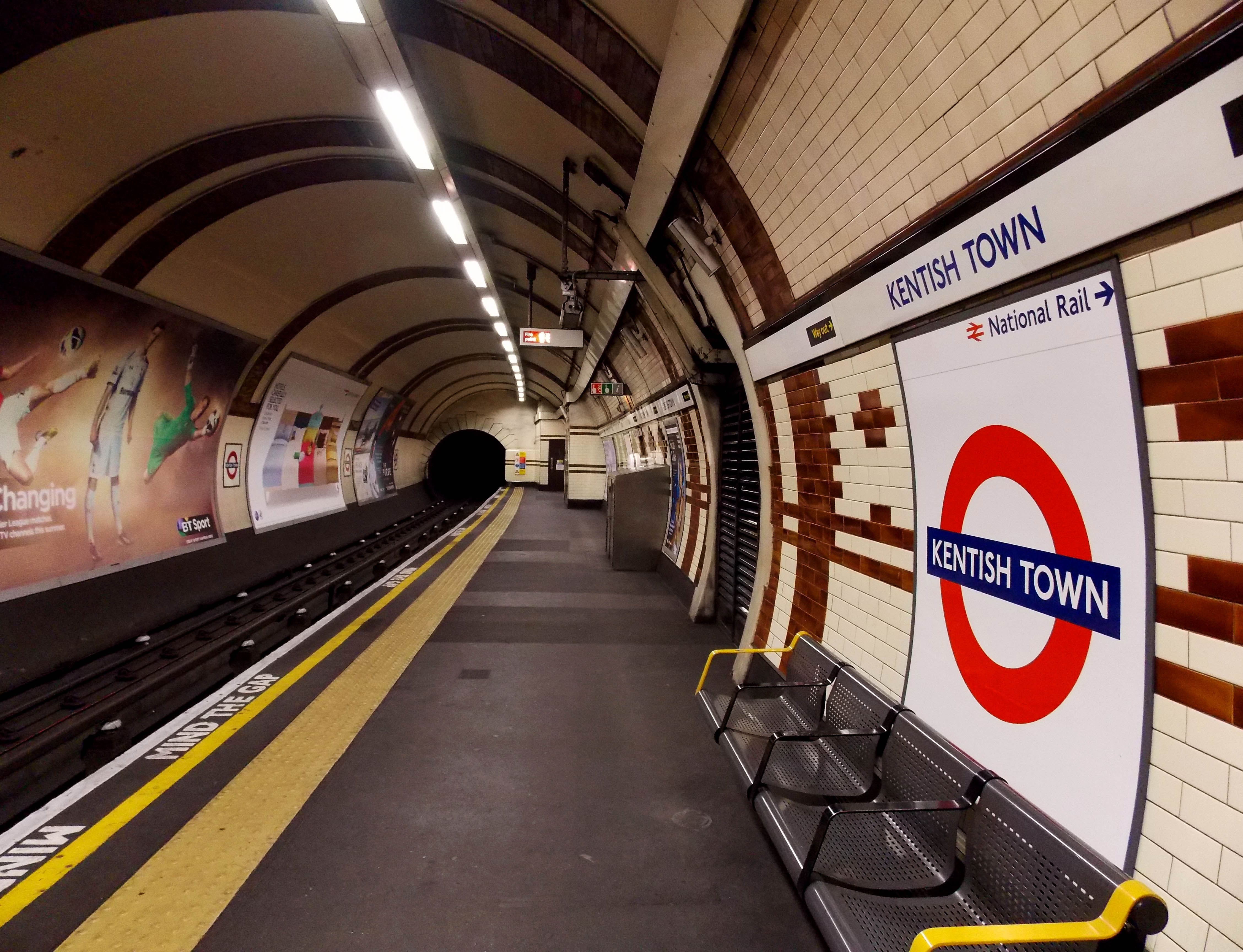 Kentish Town Tube by Nicky Jameson