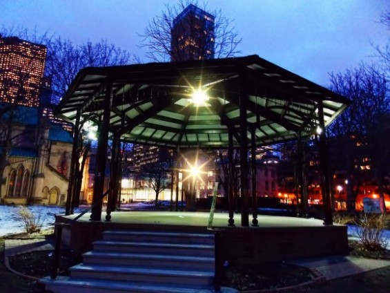 St James Park Bandstand in Winter