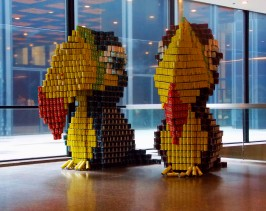 Two Cans are better than one, an art installation by Canstruction. Each can of food goes to a food bank in Toronto