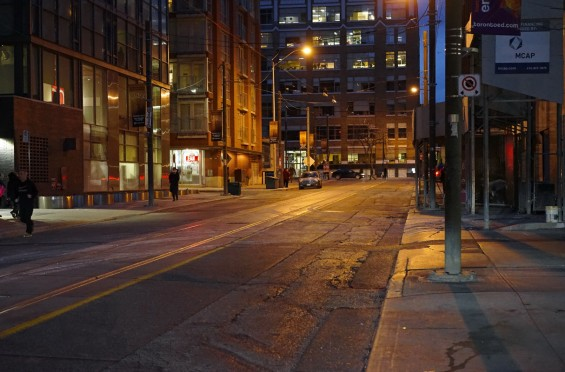 Night on Charlotte St, Urban photography by Nicky Jameson