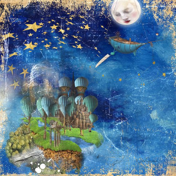 Nicky Jameson Wall Art Star Fishing In a Mystical Land