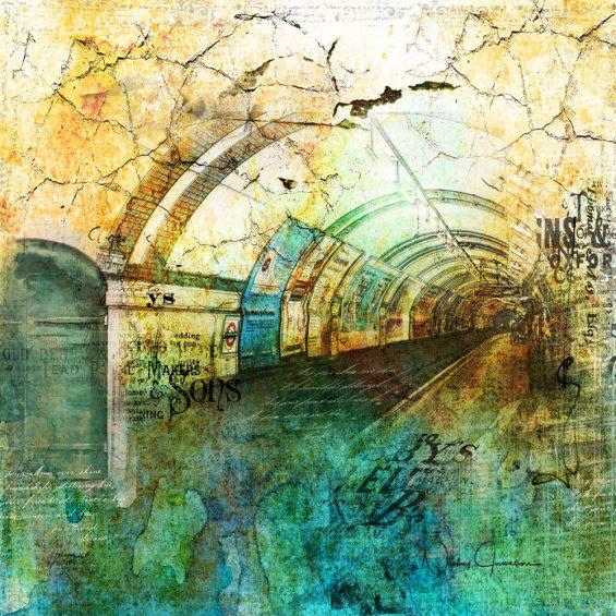 Crackly Underground Collage Grunge Art