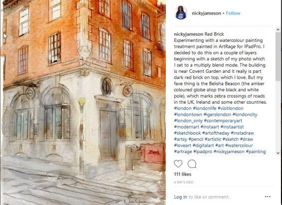Nicky Jameson on Instagram