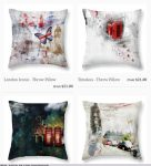 Artsy Cushions by Nicky Jameson Art