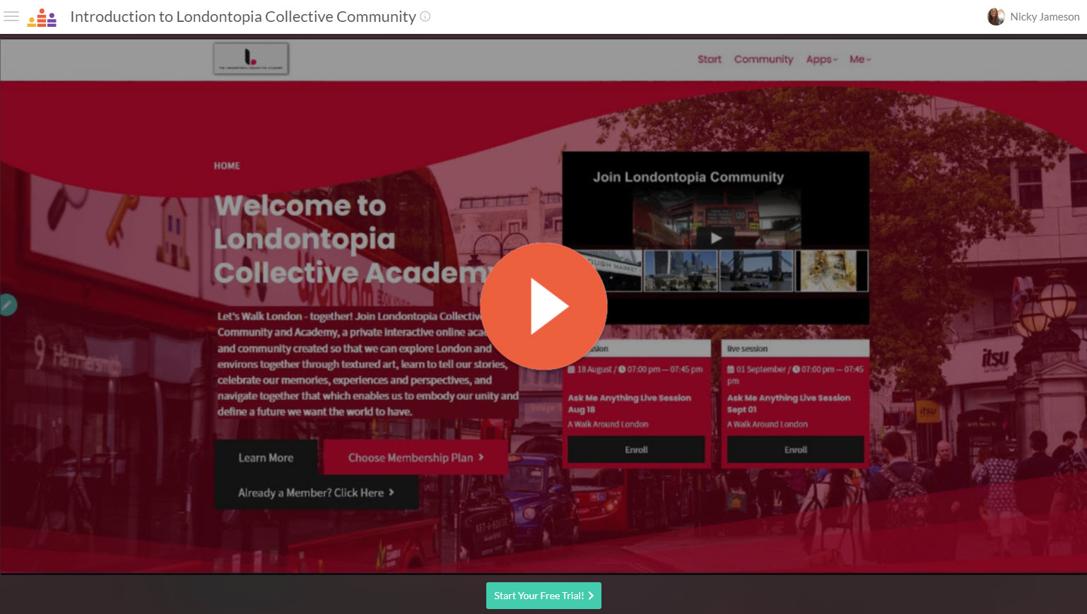 Londontopiacollective Academy and Community